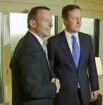 Tony Abbott and David cameron (photo news limited)