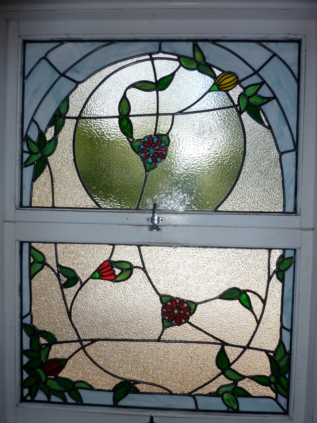The new leadlights for the en-suite window.
