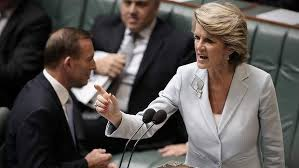 Bishop venting her spleen at Shorten over Conroy.
