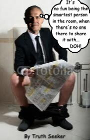 Man on loo+